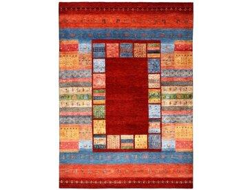 Gabbeh Loribaft Bambus Teppich Orientalischer Teppich 243x172 cm, Indien Handgeknüpft Design Modern