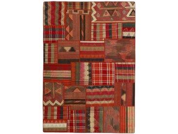Kelim Patchwork Teppich Orientteppich 231x160 cm Handgewebt Klassisch