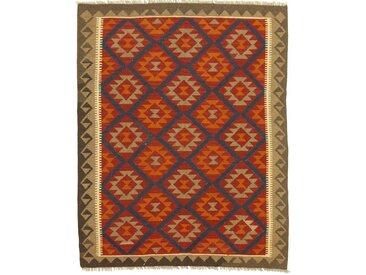 Kelim Maimane Teppich Orientteppich 198x157 cm Handgewebt Klassisch