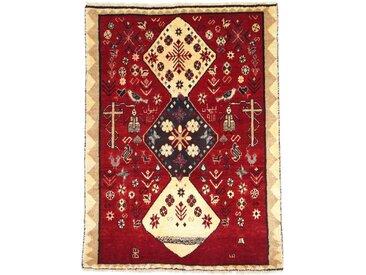 Ghashghai Teppich Orientteppich 128x93 cm Handgeknüpft Klassisch