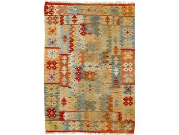 Kelim Afghan Teppich Orientalischer Teppich 121x85 cm Handgewebt Klassisch