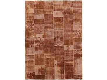 Patchwork Teppich Orientalischer Teppich 353x251 cm Handgeknüpft Modern