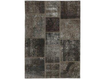 Patchwork Teppich Perserteppich 147x106 cm Handgeknüpft Modern