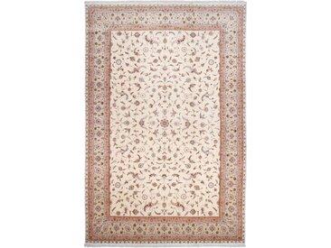 Täbriz 60Raj Seidenkette Teppich Orientalischer Teppich 596x395 cm Handgeknüpft Klassisch