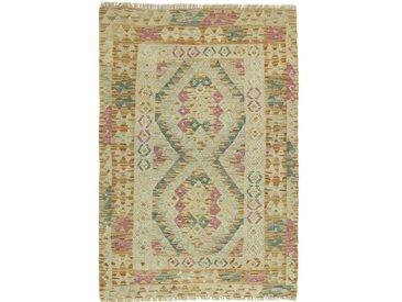 Kelim Afghan Teppich Orientteppich 129x88 cm Handgewebt Klassisch