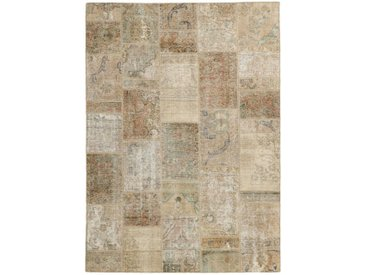 Patchwork Teppich Orientalischer Teppich 233x166 cm Handgeknüpft Modern