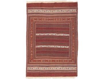 Kelim Kordi fine Teppich Orientteppich 201x140 cm Handgewebt Klassisch