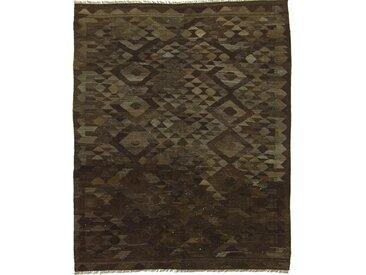 Kelim Afghan Heritage Teppich Orientalischer Teppich 186x154 cm Handgewebt Design Modern