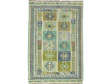 Kelim Afghan Heritage Teppich Orientalischer Teppich 244x168 cm Handgewebt Design Modern