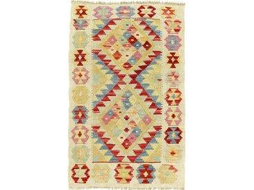 Kelim Afghan Teppich Orientteppich 89x57 cm Handgewebt Klassisch