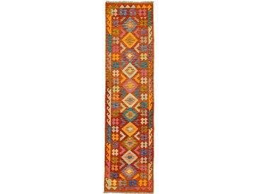Kelim Afghan Teppich Orientteppich 295x73 cm, Läufer Handgewebt Klassisch