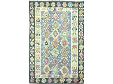 Kelim Afghan Heritage Teppich Orientalischer Teppich 300x195 cm Handgewebt Design Modern