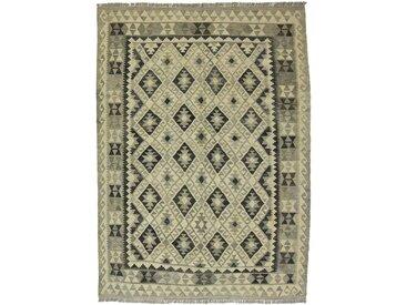 Kelim Afghan Heritage Teppich Orientalischer Teppich 210x155 cm Handgewebt Design Modern