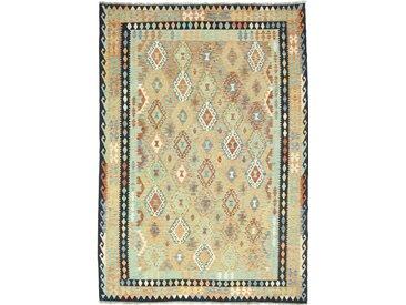 Kelim Afghan Heritage Teppich Orientteppich 296x209 cm Handgewebt Design Modern