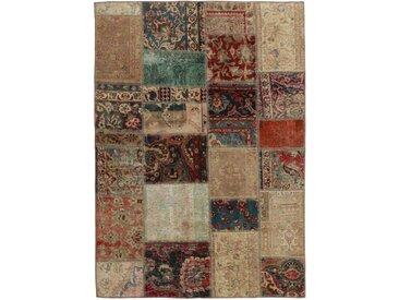 Patchwork Teppich Orientalischer Teppich 198x143 cm Handgeknüpft Modern