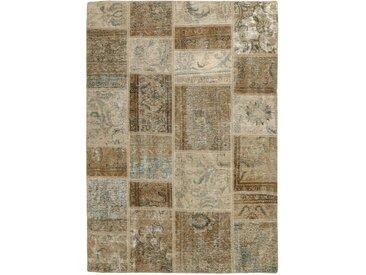 Patchwork Teppich Persischer Teppich 198x141 cm Handgeknüpft Modern