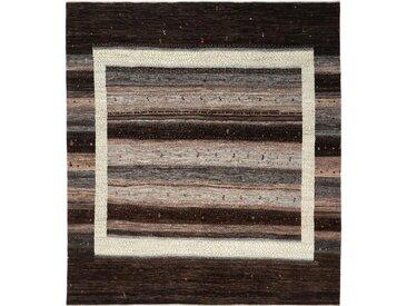 Perser Gabbeh Loribaft Nowbaft Teppich Orientalischer Teppich 257x233 cm Handgeknüpft Modern