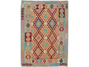 Kelim Afghan Heritage Teppich Orientteppich 137x102 cm Handgewebt Design Modern