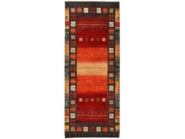 Gabbeh Loribaft Teppich Orientalischer Teppich 208x82 cm, Läufer, Indien Handgeknüpft Modern