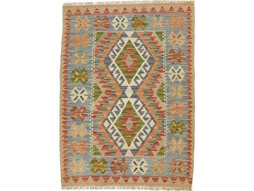 Kelim Afghan Teppich Orientteppich 113x83 cm Handgewebt Klassisch