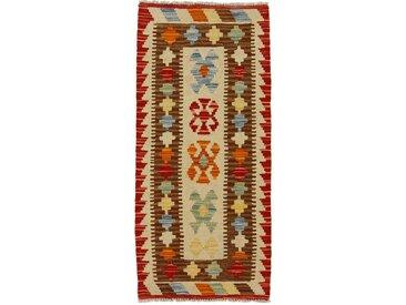 Kelim Afghan Teppich Orientalischer Teppich 107x49 cm, Läufer Handgewebt Klassisch