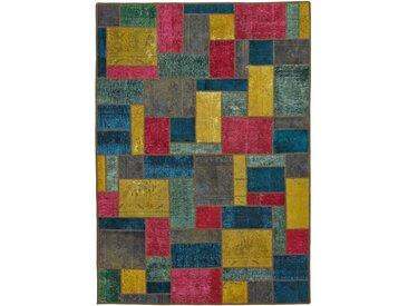 Patchwork Teppich Orientteppich 239x169 cm Handgeknüpft Modern