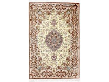Ghom Seide Teppich Perserteppich 154x105 cm Handgeknüpft Klassisch