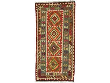 Kelim Afghan Teppich Orientalischer Teppich 210x102 cm, Läufer Handgewebt Klassisch