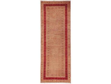Perser Gabbeh Kashkuli Teppich Perserteppich 199x75 cm, Läufer Handgeknüpft Modern