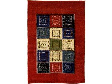 Perser Gabbeh Loribaft Teppich Perserteppich 141x98 cm Handgeknüpft Modern