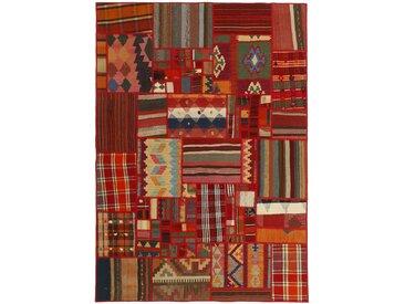 Kelim Patchwork Teppich Perserteppich 202x140 cm Handgewebt Klassisch