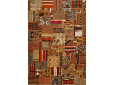 Kelim Patchwork Teppich Perserteppich 301x199 cm Handgewebt Klassisch