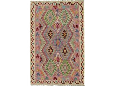 Kelim Afghan Teppich Orientalischer Teppich 181x120 cm Handgewebt Klassisch