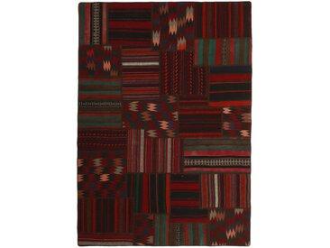 Kelim Patchwork Teppich Persischer Teppich 227x160 cm Handgewebt Klassisch