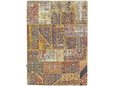 Patchwork Teppich Orientalischer Teppich 208x146 cm Handgeknüpft Modern
