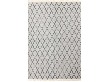 Design Kelim Diem Teppich Orientteppich 199x141 cm, Indien Handgewebt Design Modern