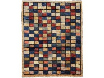 Perser Gabbeh Teppich Persischer Teppich 136x110 cm Handgeknüpft Modern