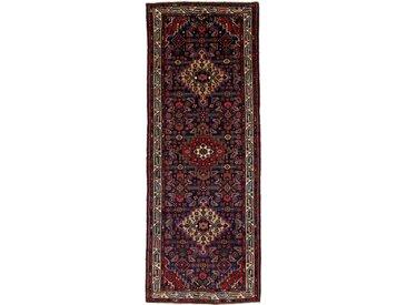 Hamadan Teppich Orientalischer Teppich 299x113 cm, Läufer Handgeknüpft Klassisch