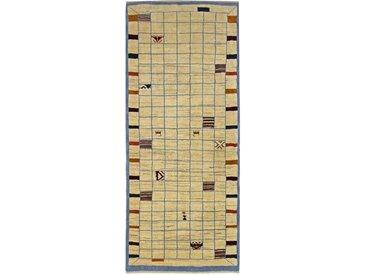 Gabbeh Loribaft Teppich Persischer Teppich 198x82 cm, Läufer Handgeknüpft Modern