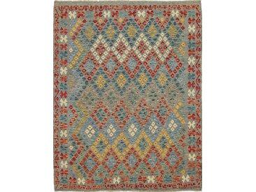 Kelim Afghan Teppich Orientalischer Teppich 196x157 cm Handgewebt Klassisch