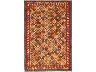 Kelim Afghan Teppich Orientalischer Teppich 301x202 cm Handgewebt Klassisch