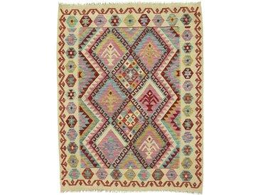 Kelim Afghan Teppich Orientalischer Teppich 172x134 cm Handgewebt Klassisch