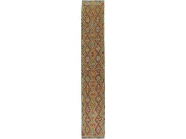 Kelim Afghan Teppich Orientalischer Teppich 499x87 cm, Läufer Handgewebt Klassisch