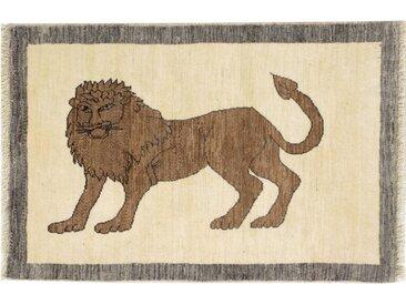 Perser Gabbeh Loribaft Teppich Persischer Teppich 121x80 cm Handgeknüpft Modern