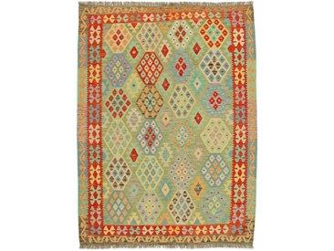 Kelim Afghan Teppich Orientteppich 243x181 cm Handgewebt Klassisch