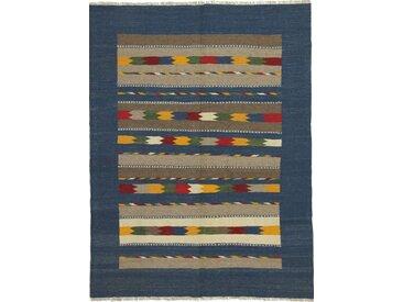 Kelim Fars Teppich Orientalischer Teppich 200x150 cm Handgewebt Klassisch