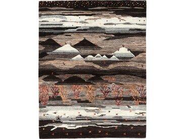 Gabbeh Loribaft Nowbaft Teppich Perserteppich 203x156 cm Handgeknüpft Modern