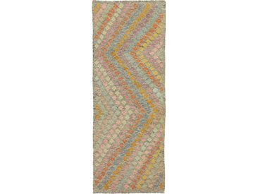 Kelim Afghan Heritage Teppich Orientalischer Teppich 233x86 cm, Läufer Handgewebt Design Modern
