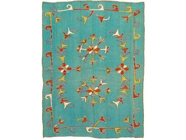 Kelim Afghan Soozani Teppich Orientteppich 197x144 cm Handgewebt Klassisch