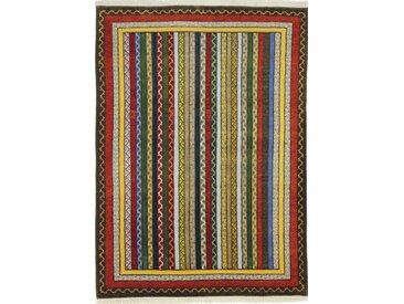 Gabbeh Loribaft Design Teppich Orientalischer Teppich 234x168 cm, Indien Handgeknüpft Design Modern